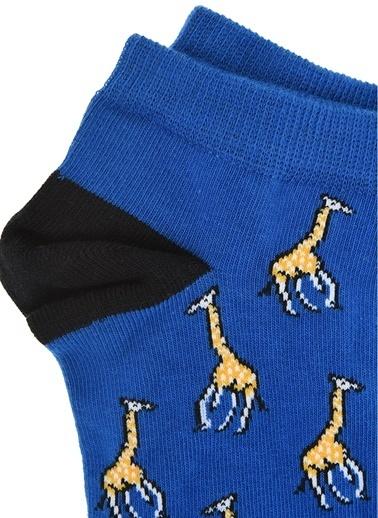 Pixter&Bro Pixter&Bro Tekli Çorap Mavi